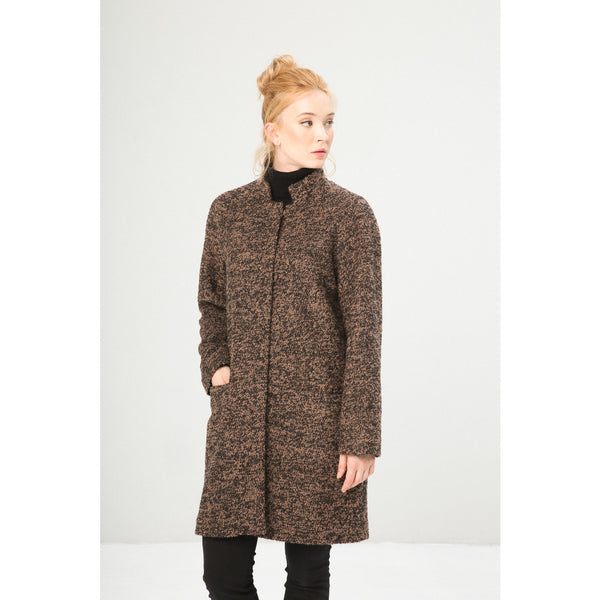 Slim Boyfriend Coat with Pocket