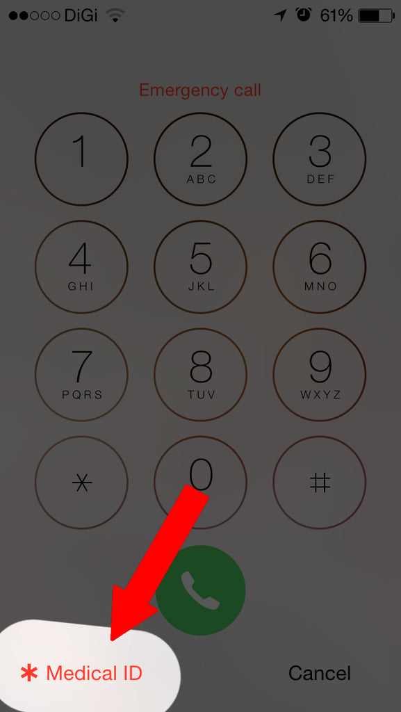 Storing Your Emergency Health Details in Your iPhone Lock