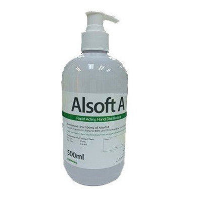 Alsoft A Rapid Acting Hand Disinfectant 500ml (SHIPS WITHIN MALAYSIA ONLY)