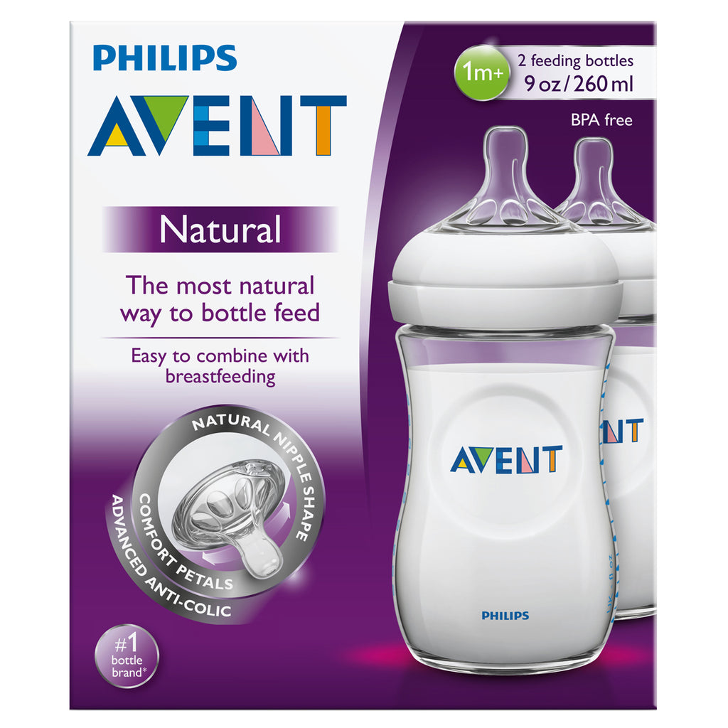 Avent Natural Feeding Bottle 2x330ml