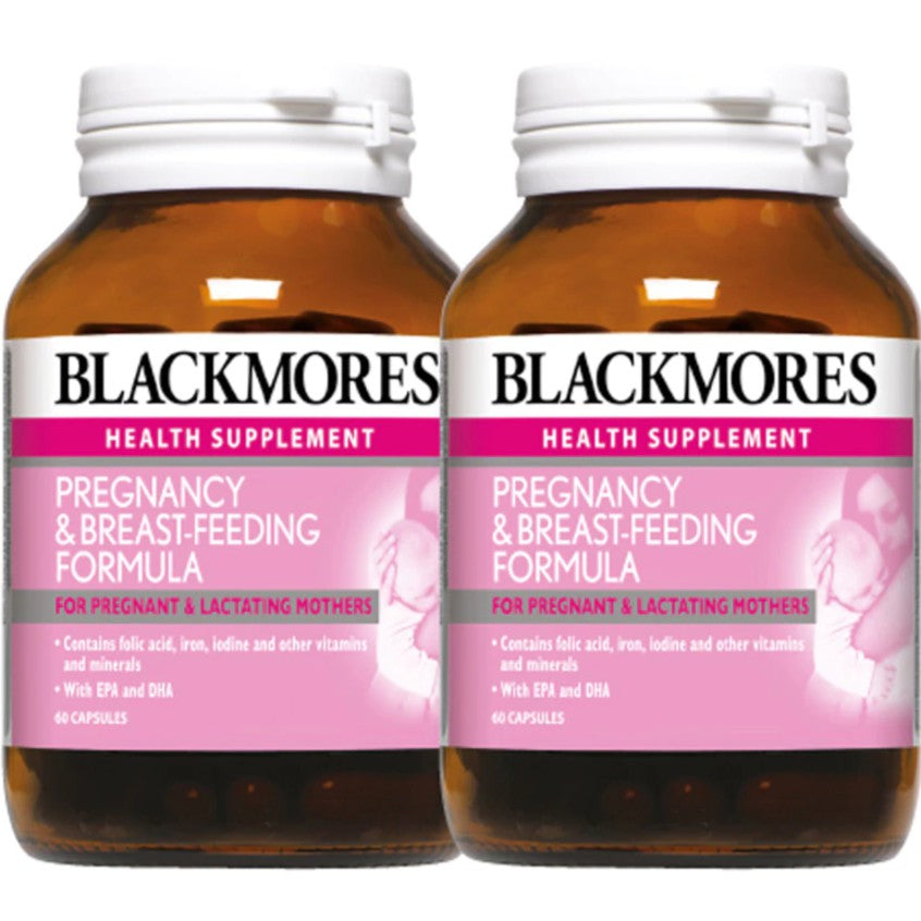 Blackmores Pregnancy & Breastfeeding Formula 60 capsules x2 (twin pack)