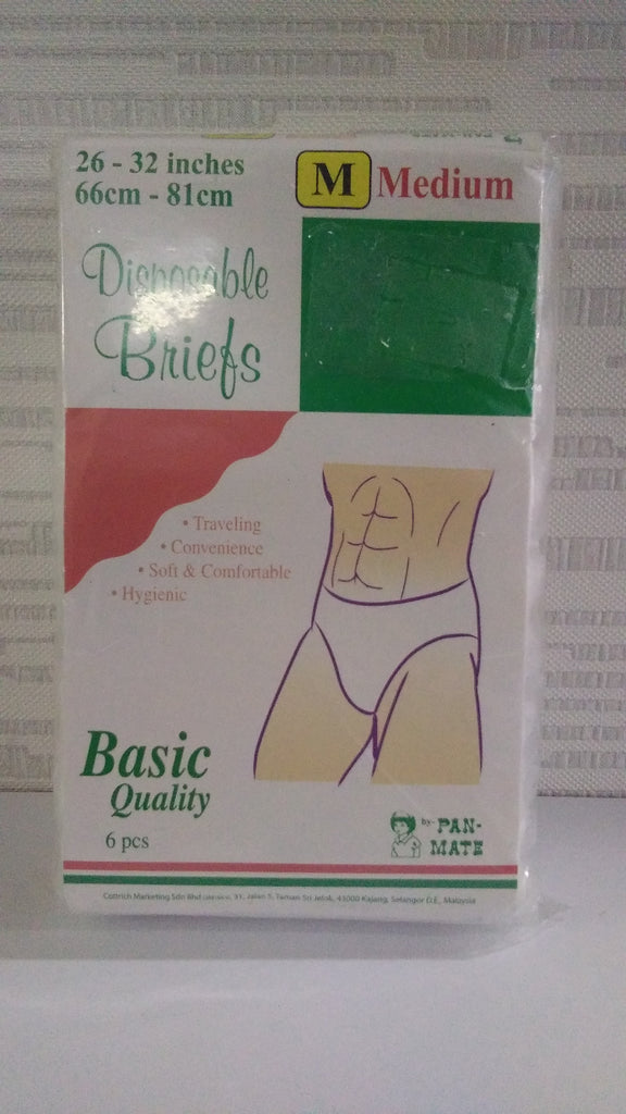 Pan-Mate Disposable Briefs m 6's