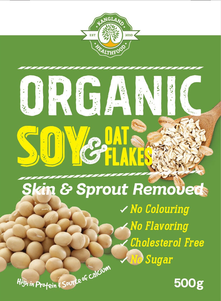 Jasper Organic Soy and Oat Flakes 500g