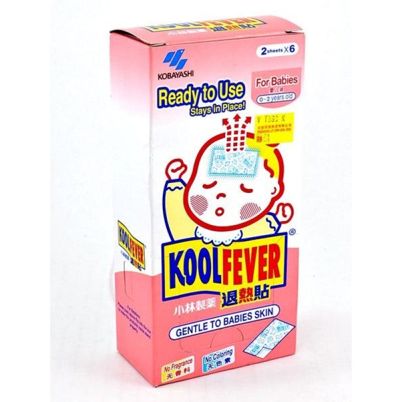 KoolFever Babies (0-2years) Cooling Gel 2'sx6