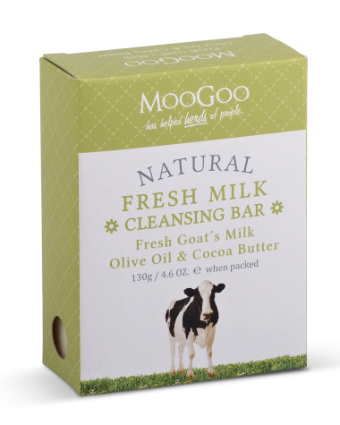 Moo Goo Fresh Milk Cleansing Bar Fresh Goat's Milk ,Olive Oil and Cocoa Butter 130g