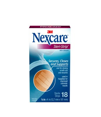 3M Nexcare Steri-Strip 1/2 Inx 4 In (12.7mmx101mm) 18's