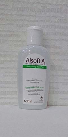 Alsoft A Rapid Acting Hand Disinfectant 60ml (SHIPS WITHIN MALAYSIA ONLY)