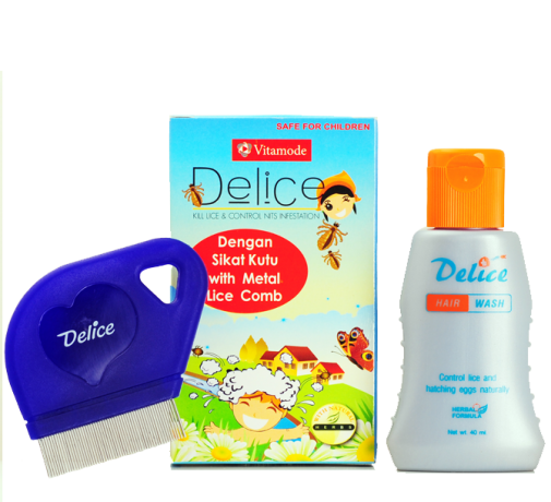 VITAMODE DELICE KILL LICE & METAL LICE COMB 40ml + magnifying lens