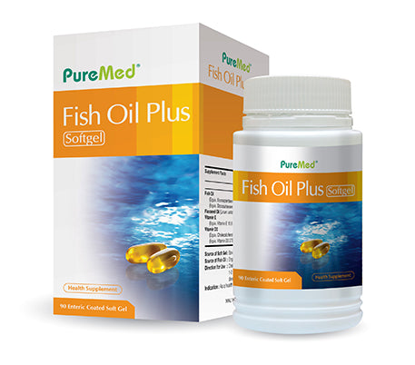 PUREMED FISH OIL PLUS SOFTGEL 2x90's