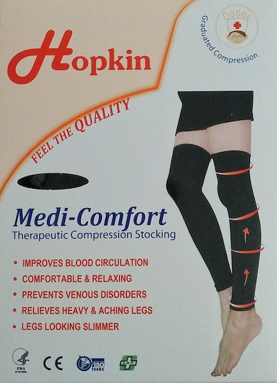 Hopkin Medi-Comfort Therapeutic Compression Stocking L Below Knee