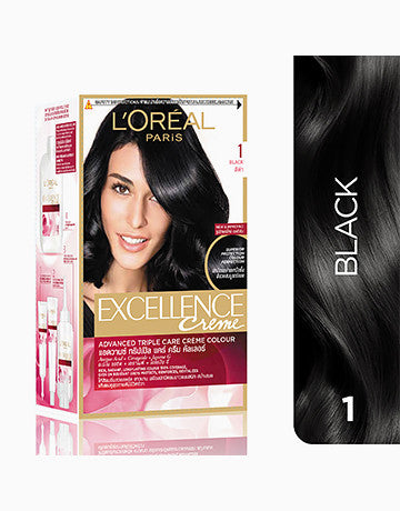L'OREAL PARIS Excellence Hair Colour CR1 (BLACK)