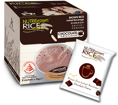 NutriBrown Rice Chocolate 8x35g
