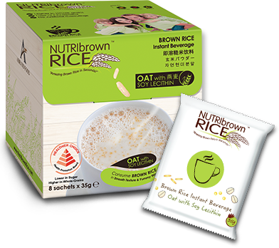 NutriBrown Rice Oat with (Soy Lecithin) 8x35g