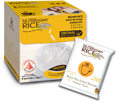 NutriBrown Rice Original 8x35g