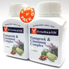 VITAHEALTH FENUGREEK & CINNAMON COMPLEX TWIN PACK 60'sx2