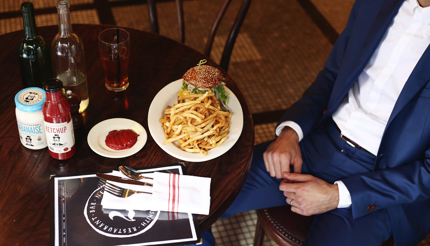Mark Ramadan Sir Kensington's The Smith Restaurant Burger Fries noMad New york