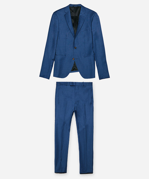 italian cobalt blue custom suit
