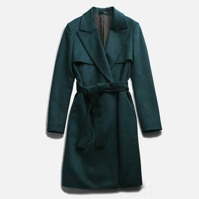 Sene - The Montmartre Coat in Emerald Wool Cashmere Blend
