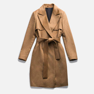 Sene - The Montmartre Coat in Camel Wool Cashmere Blend