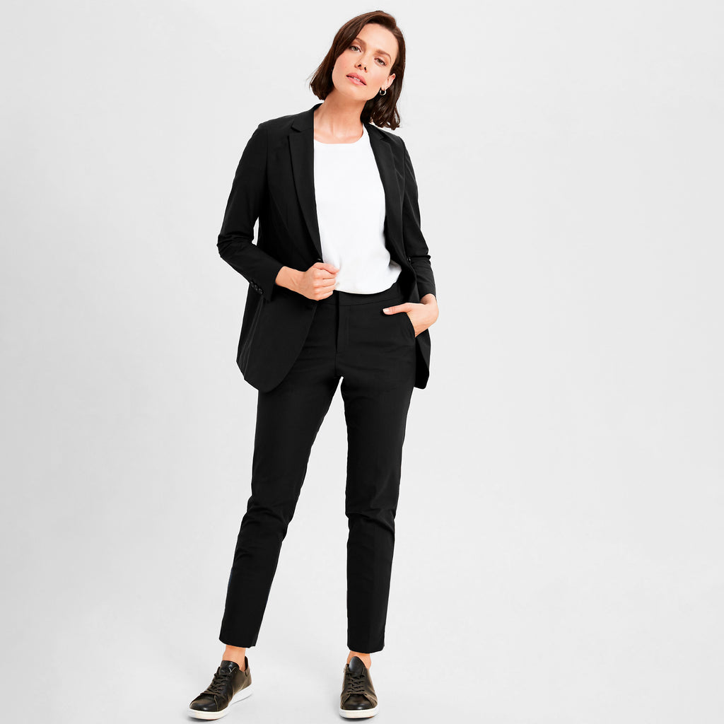 Custom Bespoke Tailored women's pantsuit Suits Made-To-Measure Performance Suit Athleisure in Los Angeles