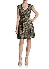 Women's ABS Fit & Flare Dress Sz 4 - iFIVE FASHIONHOUSE