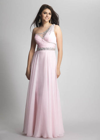 Dave & Johnny Women's Sparkly Ice Pink Long Dress Sz 2
