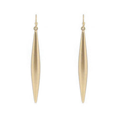 Women's Dropped Spike Earrings Unpolished Gold - iFIVE FASHIONHOUSE