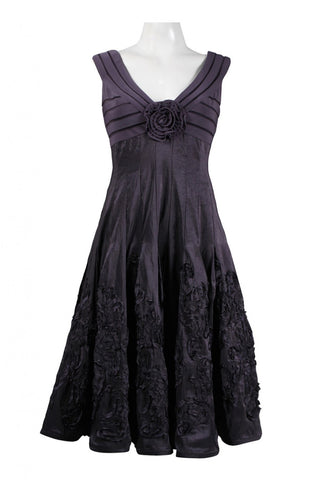 Adrianna Papell Women's Rosette Detail Dress Sz 4