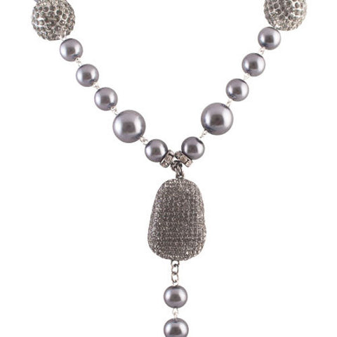Women's Beaded Long Necklace by Shabana Khan