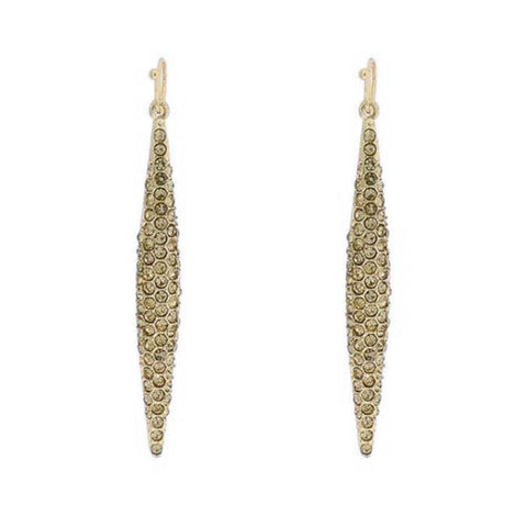 Women's Dropped Spike Earrings Pave Gold