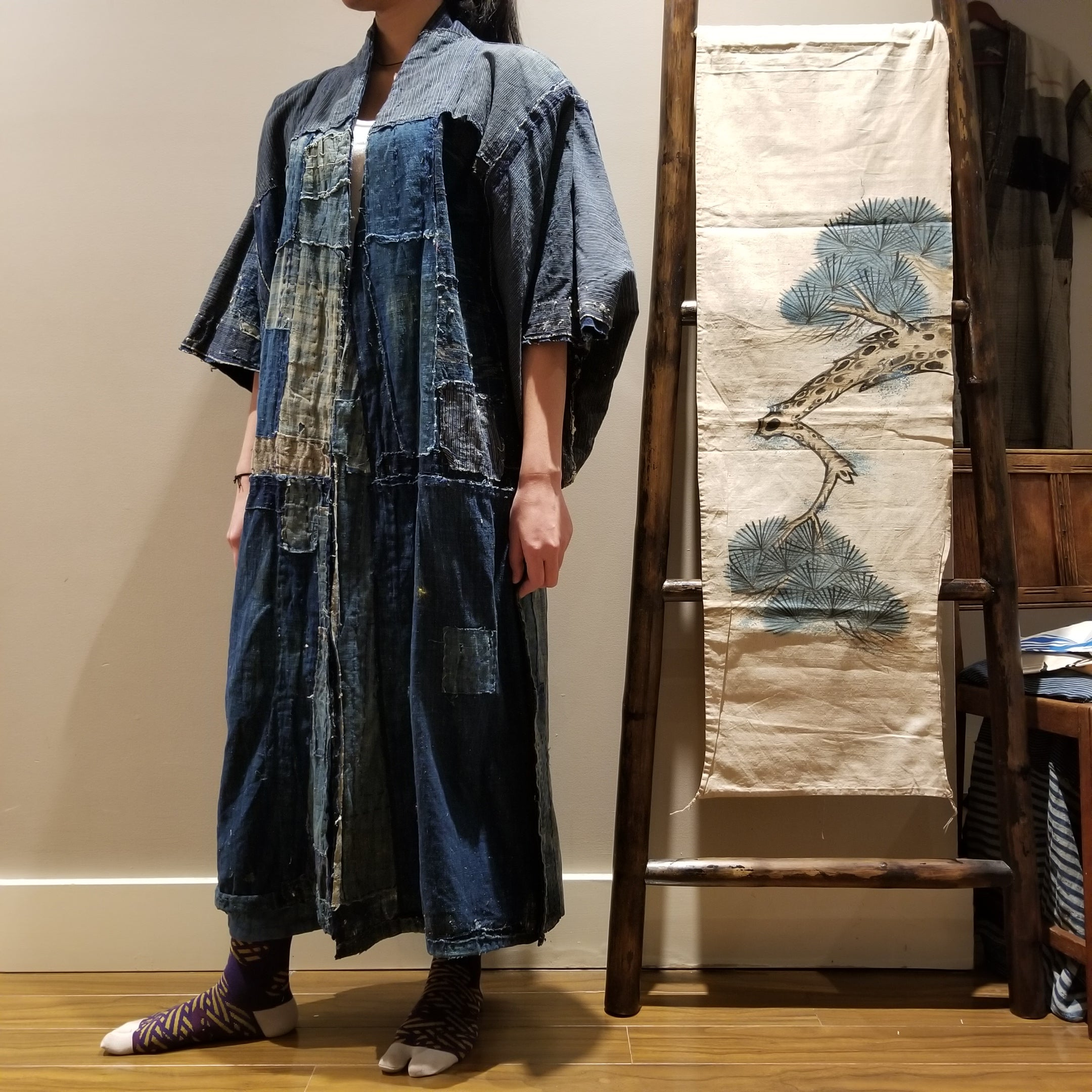 Japanese vintage Very old Boro working cloths