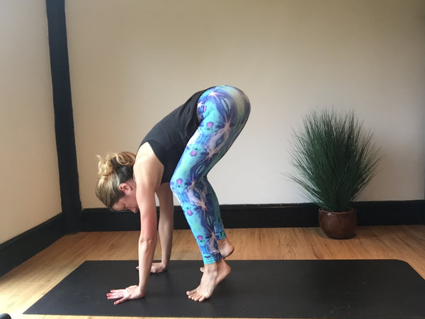Kristina Carman wearing Tiny Fish Co yoga leggings