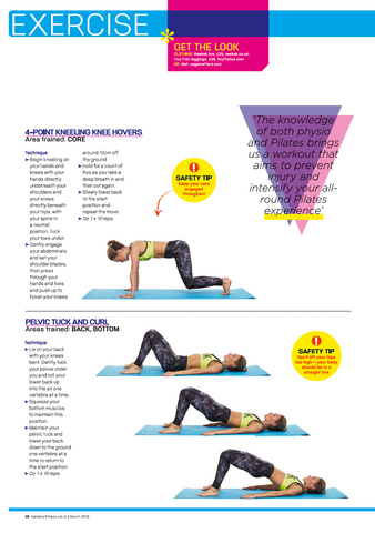 Pilates workout tips and tricks for home practice with Tiny Fish leggings