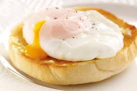 Poached eggs on an english muffin