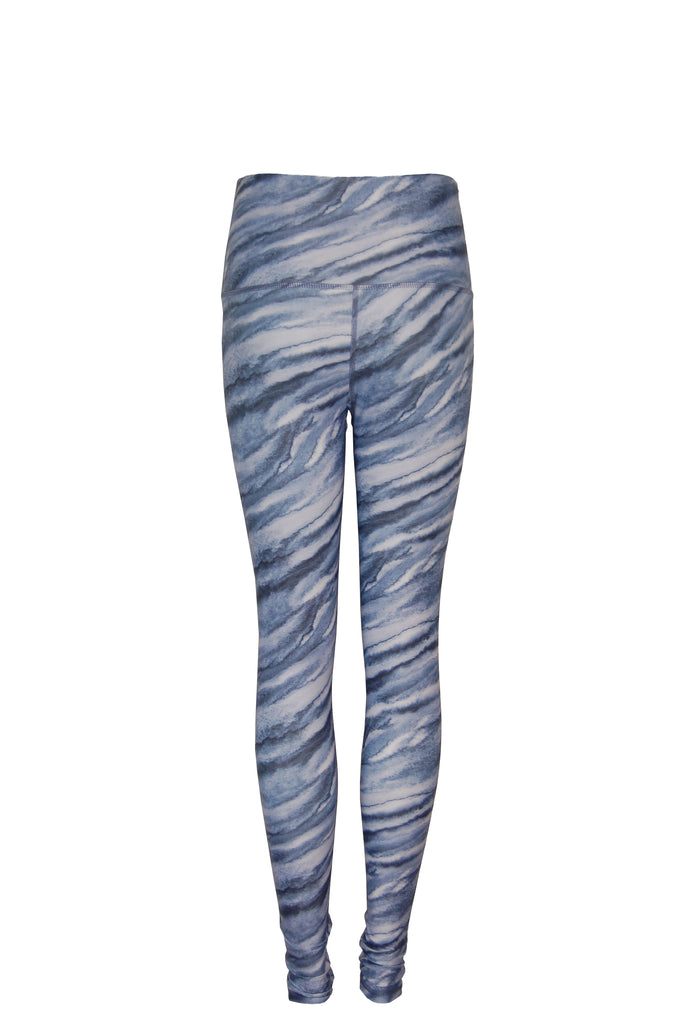 The High Line High Waisted Printed legging | Blue and White Swirl