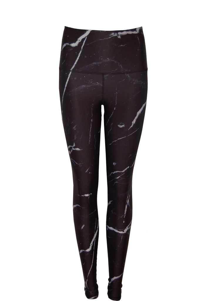The High Line High Waisted Printed legging | Black and White Marble