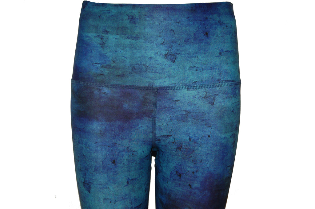 The High Line High Waisted Printed legging |Turquoise Swirl