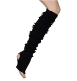 Super long Stir-Up Leg Warmers: Black