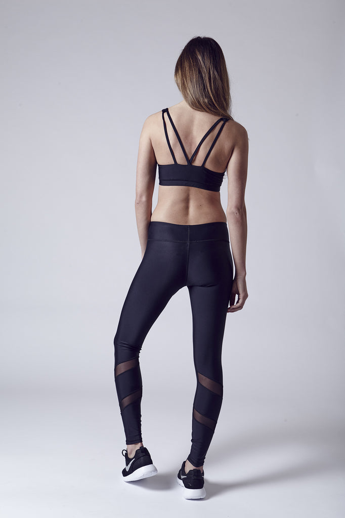 Atlanta| Mesh Cut-Out Legging | Black