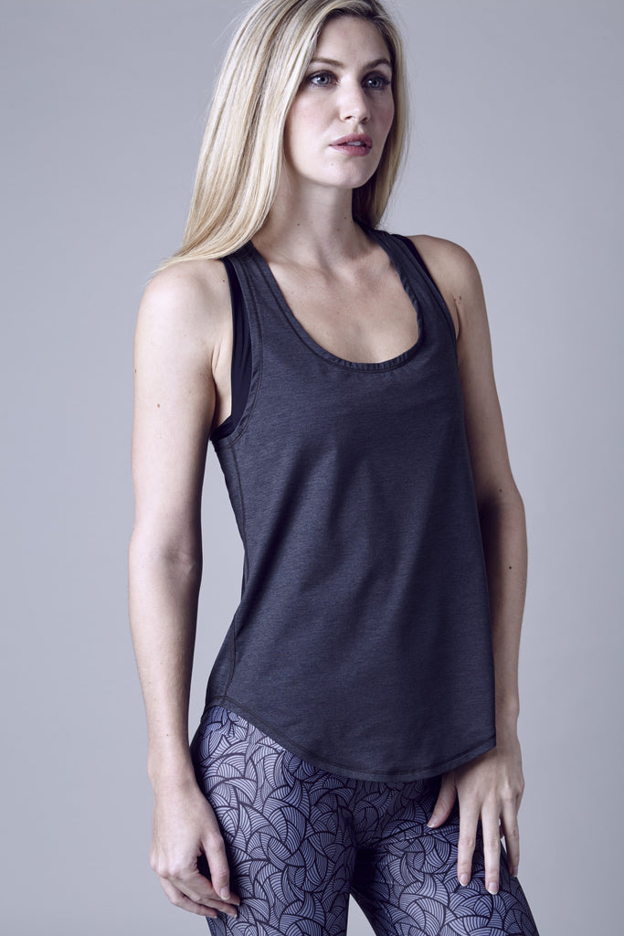 East Village Loose Racer Tank | Black