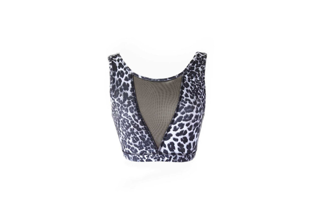 Union Crop Top || Leopard and Black Mesh