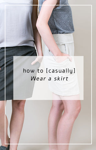 How to [casually] wear a skirt