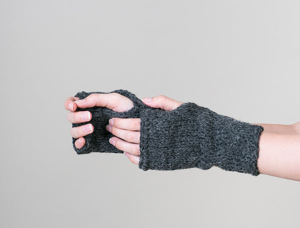 Knitted wrist warmers