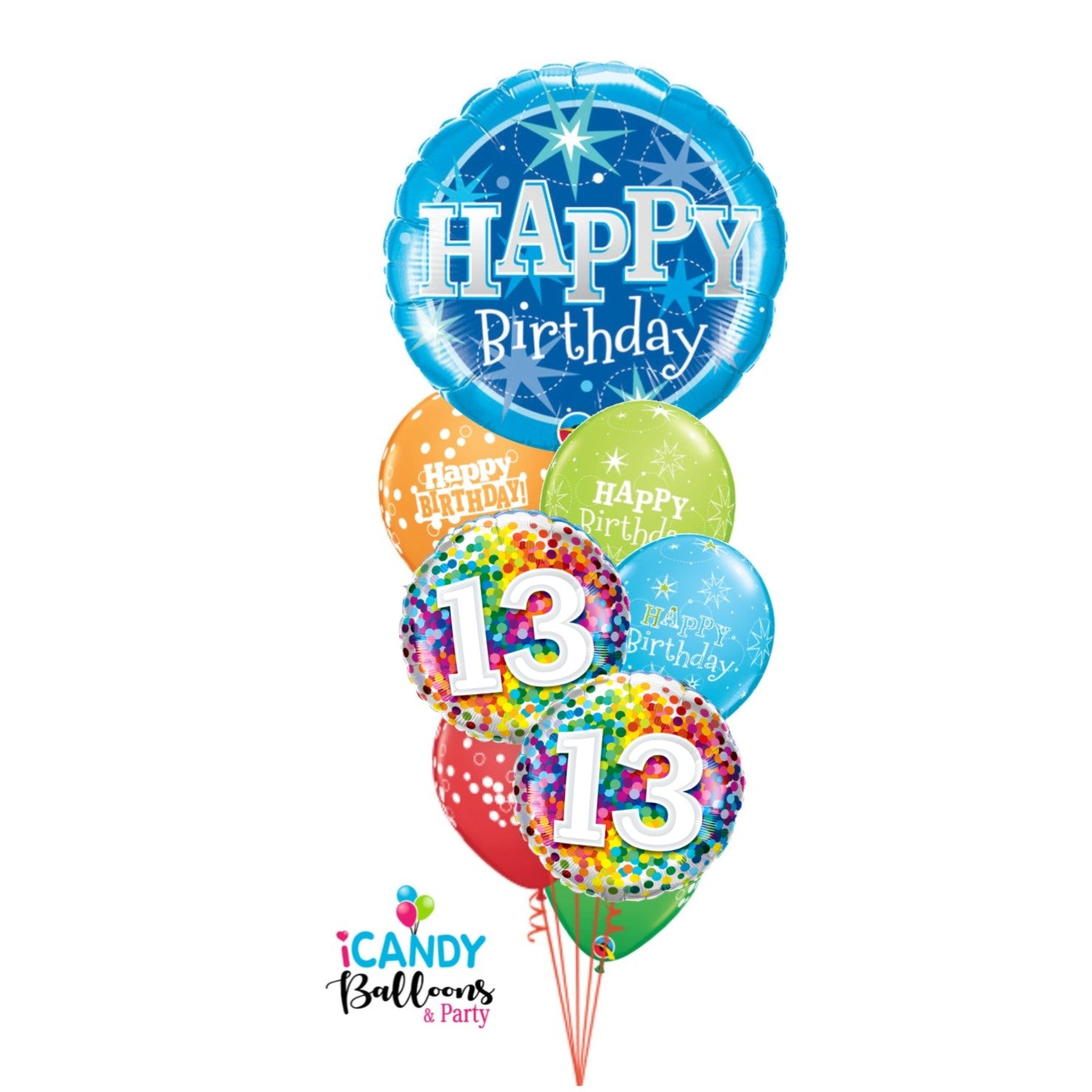 13th Birthday Balloons & Party Supplies