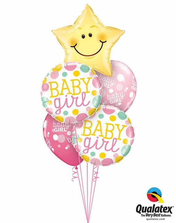 Baby Girl Gift Balloon Bouquets -Wollongong Deliveries