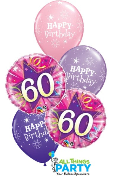 60th Birthday Balloons Wollongong & Shellharbour Area