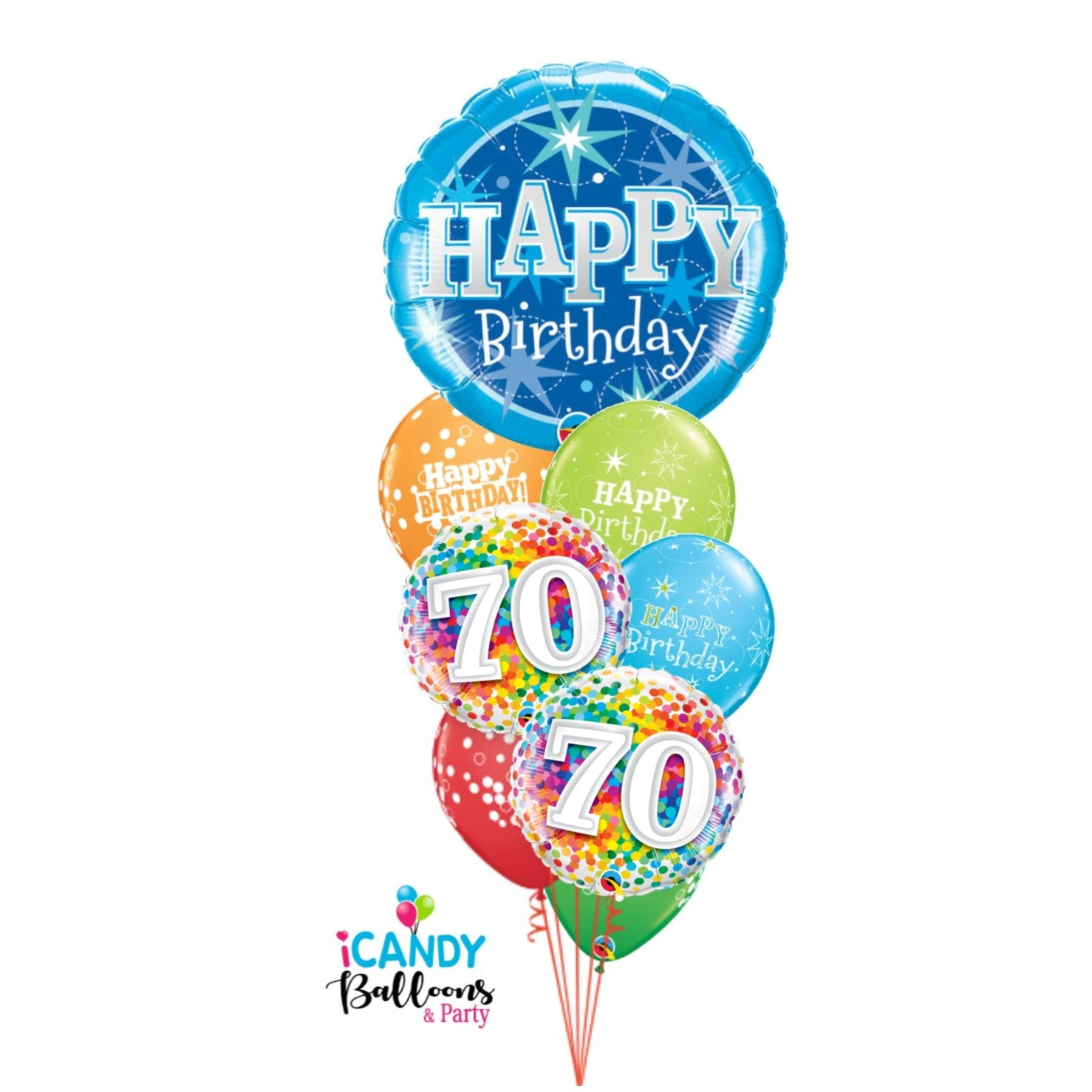 70th Birthday Balloons & Party Supplies