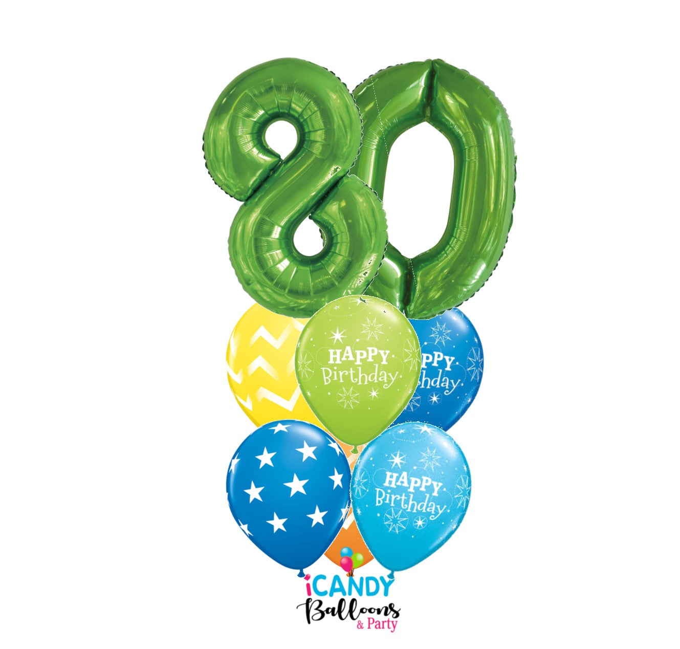 80th Birthday Balloons & Party Supplies