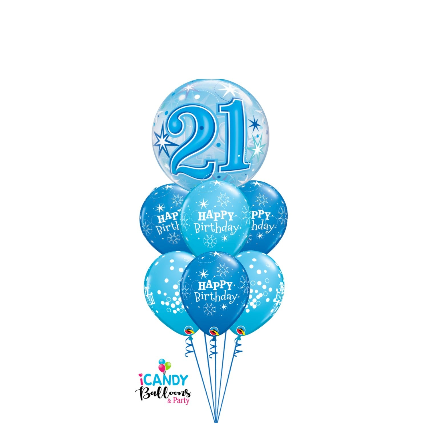 21st Birthday Balloons & Party Supplies