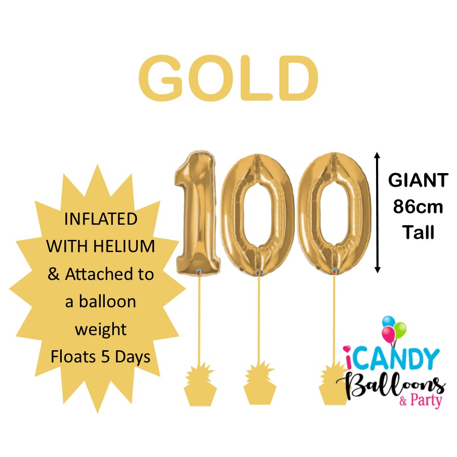 100th Birthday Balloons & Party Supplies